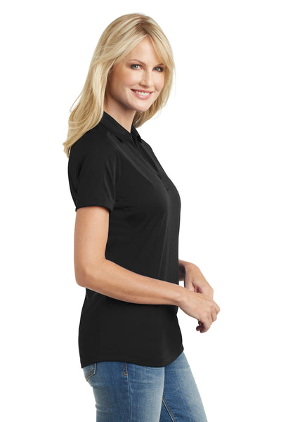 Port Authority L569 Womens Moisture Wicking Short Sleeve Polo Shirt Black Side