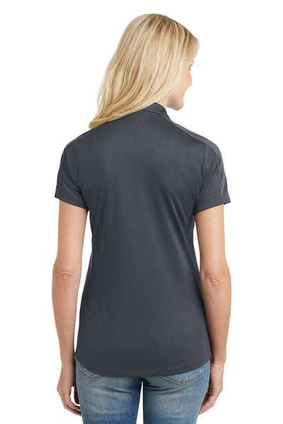 Port Authority L569 Womens Moisture Wicking Short Sleeve Polo Shirt Graphite Grey Back