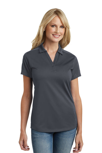 Port Authority L569 Womens Moisture Wicking Short Sleeve Polo Shirt Graphite Grey Front