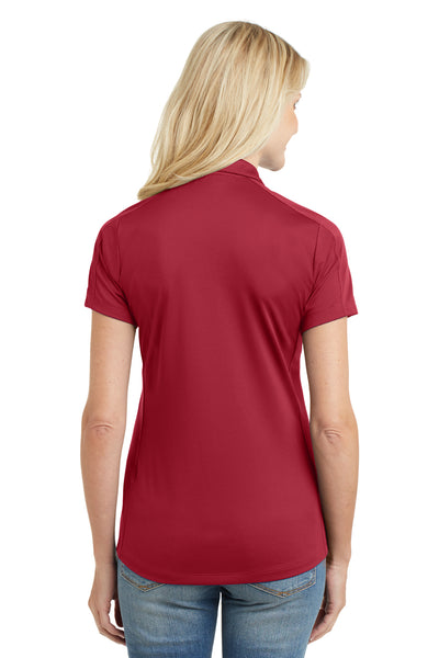 Port Authority L569 Womens Moisture Wicking Short Sleeve Polo Shirt Red Back