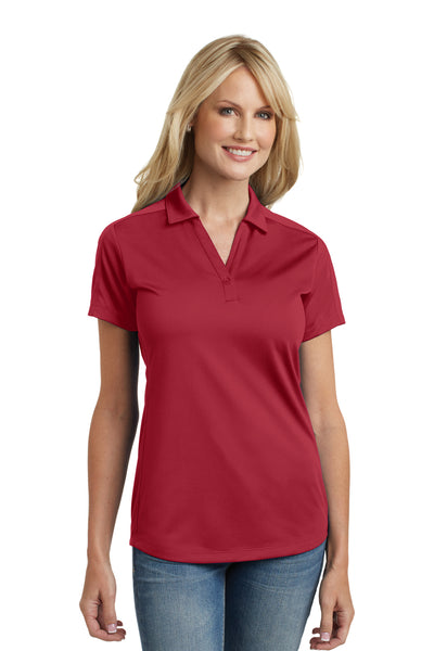 Port Authority L569 Womens Moisture Wicking Short Sleeve Polo Shirt Red Front