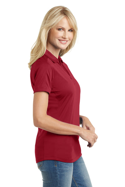 Port Authority L569 Womens Moisture Wicking Short Sleeve Polo Shirt Red Side