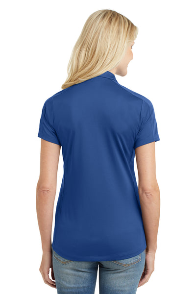 Port Authority L569 Womens Moisture Wicking Short Sleeve Polo Shirt Royal Blue Back