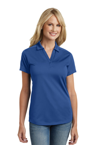 Port Authority L569 Womens Moisture Wicking Short Sleeve Polo Shirt Royal Blue Front