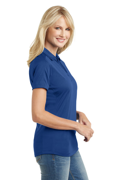 Port Authority L569 Womens Moisture Wicking Short Sleeve Polo Shirt Royal Blue Side