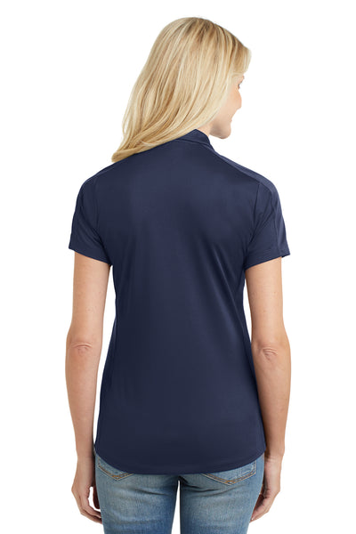 Port Authority L569 Womens Moisture Wicking Short Sleeve Polo Shirt Navy Blue Back