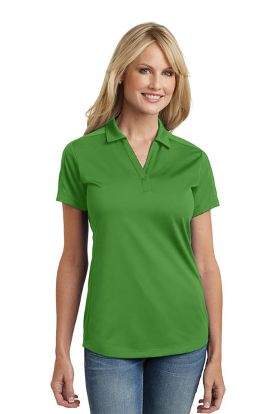 Port Authority L569 Womens Moisture Wicking Short Sleeve Polo Shirt Vine Green Front