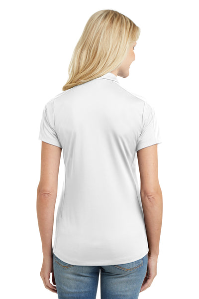 Port Authority L569 Womens Moisture Wicking Short Sleeve Polo Shirt White Back