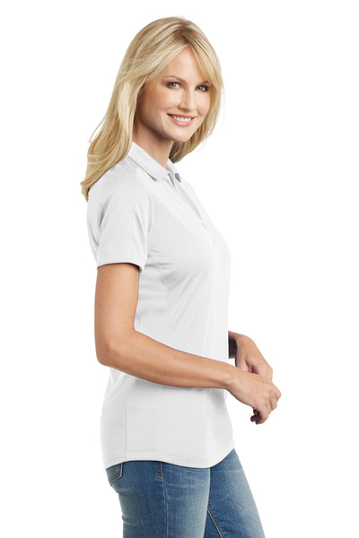 Port Authority L569 Womens Moisture Wicking Short Sleeve Polo Shirt White Side