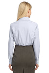 Port Authority L639 Womens Easy Care Wrinkle Resistant Long Sleeve Button Down Shirt White Back