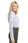 Port Authority L639 Womens Easy Care Wrinkle Resistant Long Sleeve Button Down Shirt White Side