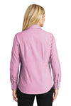 Port Authority L640 Womens Easy Care Wrinkle Resistant Long Sleeve Button Down Shirt Pink Orchid Back