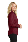 Port Authority L640 Womens Easy Care Wrinkle Resistant Long Sleeve Button Down Shirt Red Oxide Side