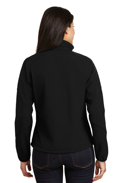 Port Authority L705 Womens Wind & Water Resistant Full Zip Jacket Black Back
