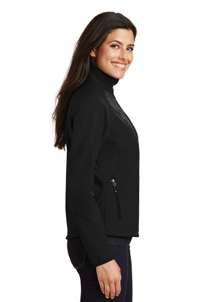 Port Authority L705 Womens Wind & Water Resistant Full Zip Jacket Black Side