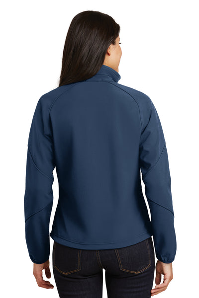 Port Authority L705 Womens Wind & Water Resistant Full Zip Jacket Insignia Blue Back