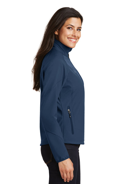 Port Authority L705 Womens Wind & Water Resistant Full Zip Jacket Insignia Blue Side
