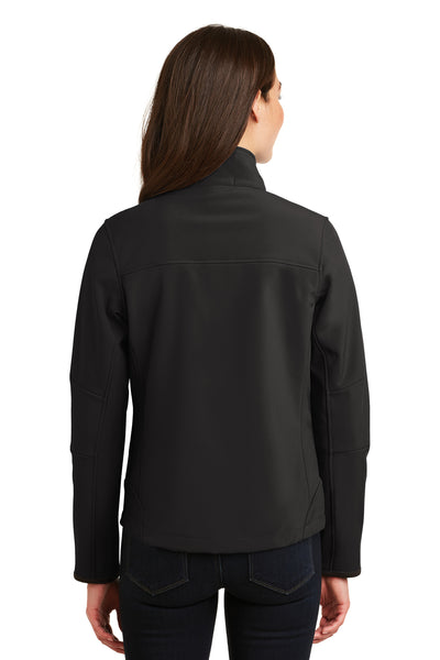 Port Authority L790 Womens Glacier Wind & Water Resistant Full Zip Jacket Black Back