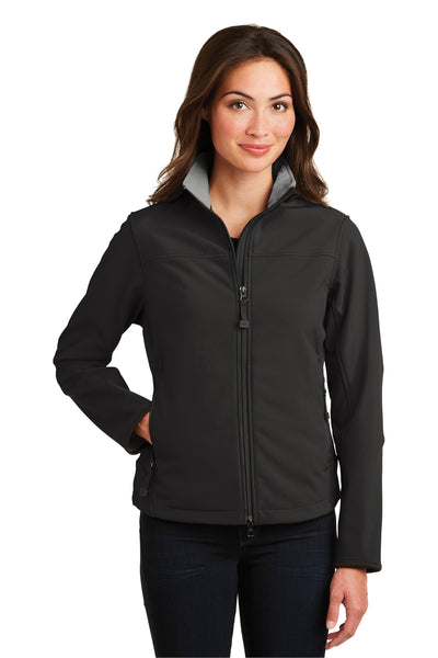 Port Authority L790 Womens Glacier Wind & Water Resistant Full Zip Jacket Black Front
