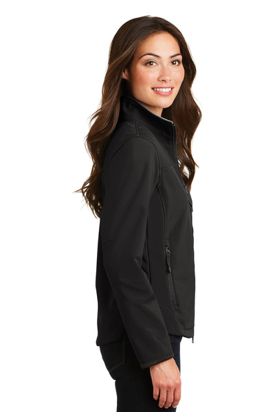 Port Authority L790 Womens Glacier Wind & Water Resistant Full Zip Jacket Black Side