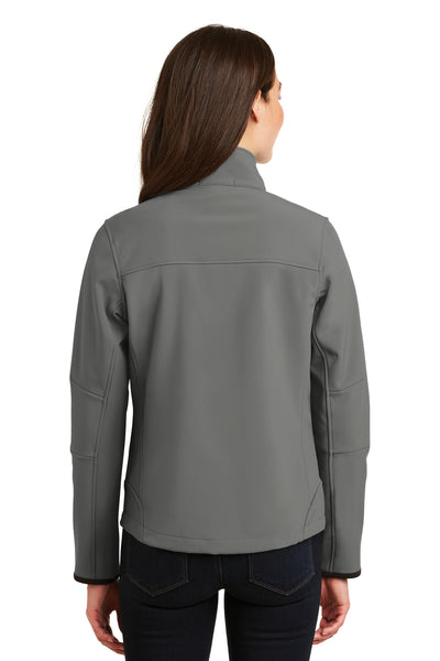 Port Authority L790 Womens Glacier Wind & Water Resistant Full Zip Jacket Smoke Grey Back