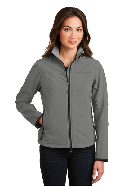 Port Authority L790 Womens Glacier Wind & Water Resistant Full Zip Jacket Smoke Grey Front