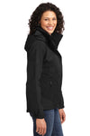 Port Authority L792 Womens Nootka Waterproof Full Zip Hooded Jacket Black Side