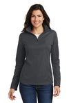 Port Authority L806 Womens Moisture Wicking 1/4 Zip Sweatshirt Battleship Grey Front