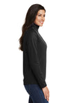 Port Authority L806 Womens Moisture Wicking 1/4 Zip Sweatshirt Black Side