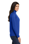 Port Authority L806 Womens Moisture Wicking 1/4 Zip Sweatshirt Royal Blue Side