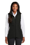 Port Authority L903 Womens Collective Wind & Water Resistant Full Zip Vest Black Front