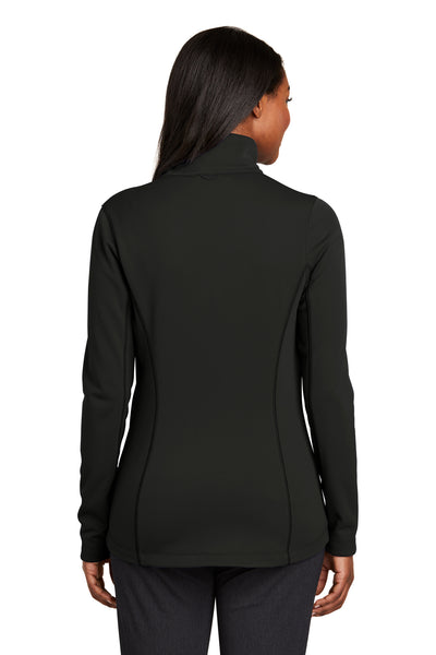 Port Authority L904 Womens Collective Full Zip Smooth Fleece Jacket Black Back