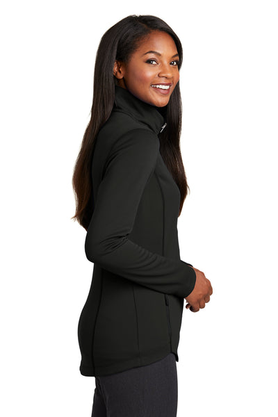 Port Authority L904 Womens Collective Full Zip Smooth Fleece Jacket Black Side