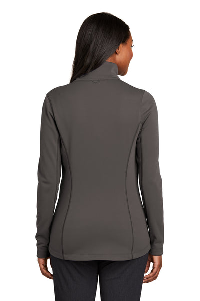 Port Authority L904 Womens Collective Full Zip Smooth Fleece Jacket Graphite Grey Back