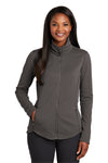 Port Authority L904 Womens Collective Full Zip Smooth Fleece Jacket Graphite Grey Front