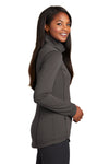 Port Authority L904 Womens Collective Full Zip Smooth Fleece Jacket Graphite Grey Side