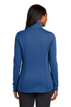 Port Authority L904 Womens Collective Full Zip Smooth Fleece Jacket Night Sky Blue Back