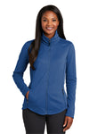 Port Authority L904 Womens Collective Full Zip Smooth Fleece Jacket Night Sky Blue Front
