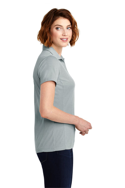 Port Authority LK582 Womens Oxford Moisture Wicking Short Sleeve Polo Shirt Gusty Grey Side