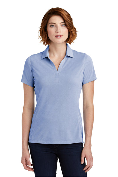 Port Authority LK582 Womens Oxford Moisture Wicking Short Sleeve Polo Shirt Royal Blue Front