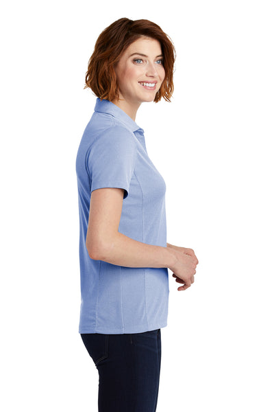 Port Authority LK582 Womens Oxford Moisture Wicking Short Sleeve Polo Shirt Royal Blue Side