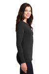 Port Authority LM1008 Womens Concept Long Sleeve Cardigan Sweater Black Side