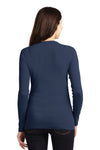Port Authority LM1008 Womens Concept Long Sleeve Cardigan Sweater Navy Blue Back