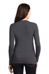 Port Authority LM1008 Womens Concept Long Sleeve Cardigan Sweater Smoke Grey Back