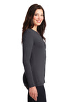 Port Authority LM1008 Womens Concept Long Sleeve Cardigan Sweater Smoke Grey Side