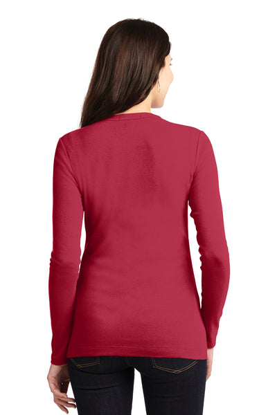 Port Authority LM1008 Womens Concept Long Sleeve Cardigan Sweater Red Back