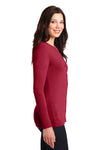 Port Authority LM1008 Womens Concept Long Sleeve Cardigan Sweater Red Side