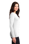 Port Authority LM1008 Womens Concept Long Sleeve Cardigan Sweater White Side