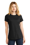 New Era LNEA100 Womens Heritage Short Sleeve Crewneck T-Shirt Black Front