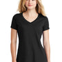 New Era Womens Heritage Short Sleeve V-Neck T-Shirt - Black